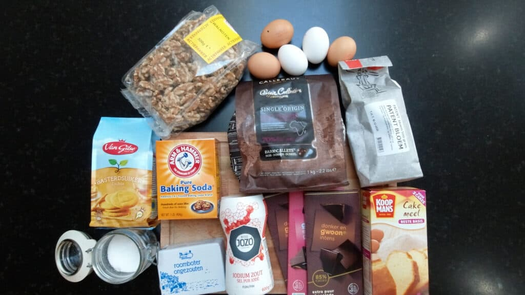 ingredients chocolate chip cookie