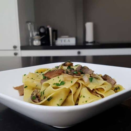how to make Pappardelle ai Funghi