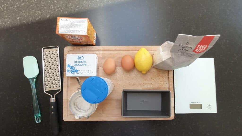 ingredients lemon pound cake
