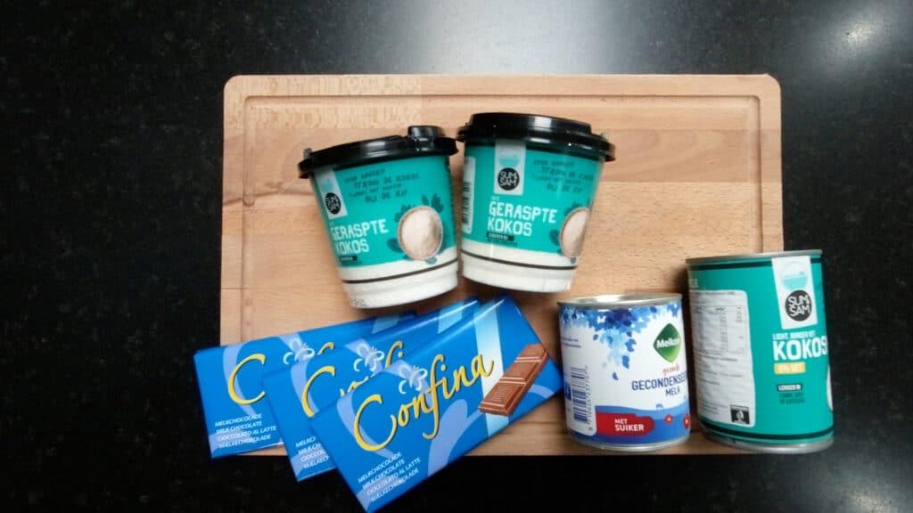 Chocolate Coconut Bars Ingredients