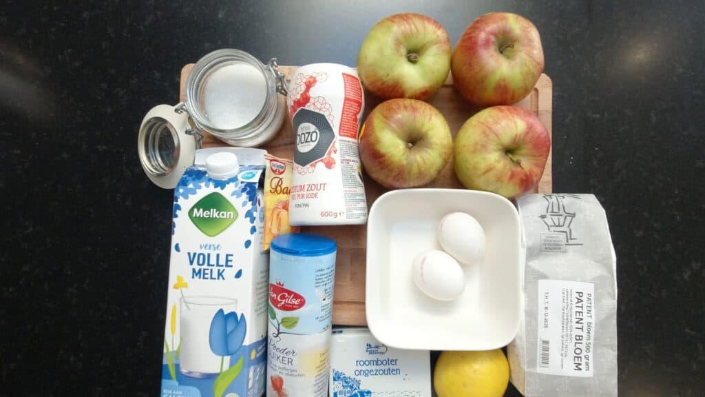 ingredients layered apple pie