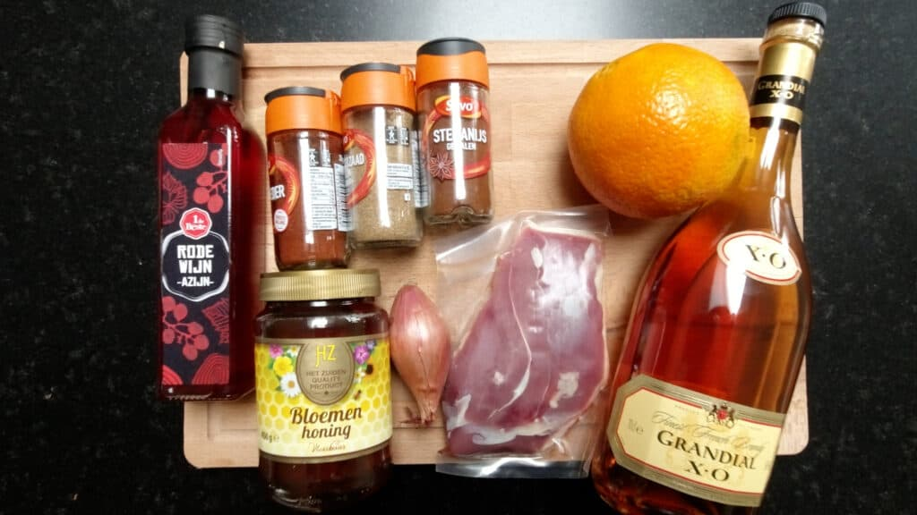 ingredients orange sauce
