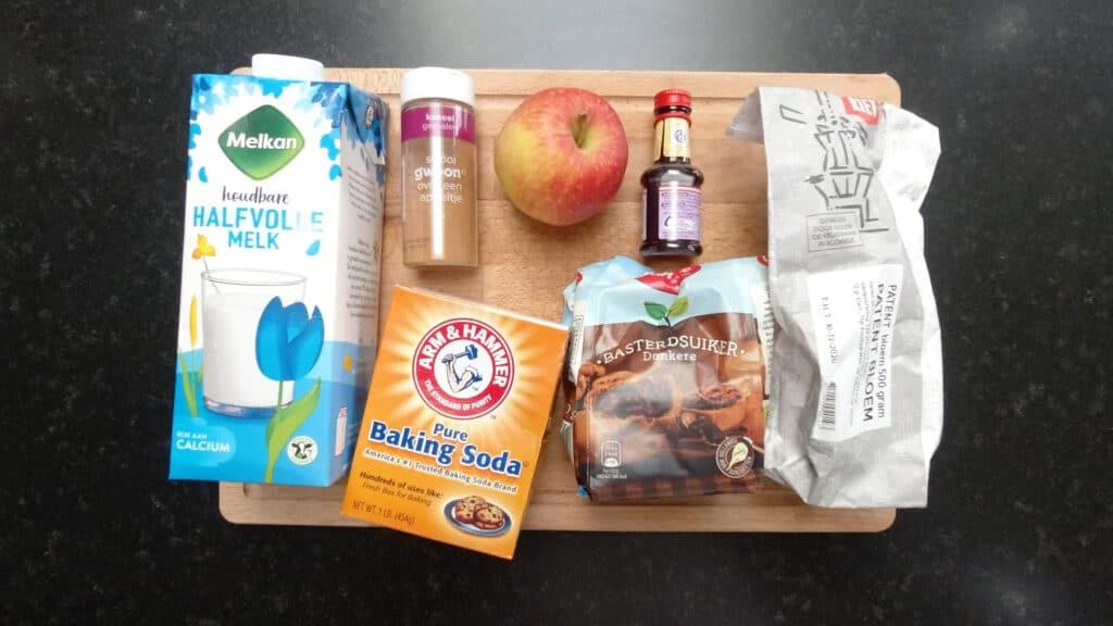 apple mug cake ingredients