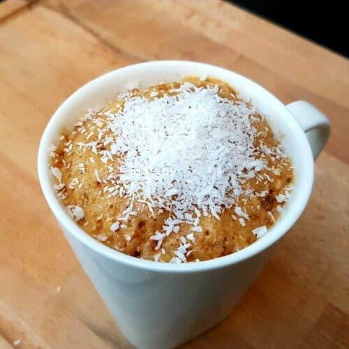 coconut mug cake
