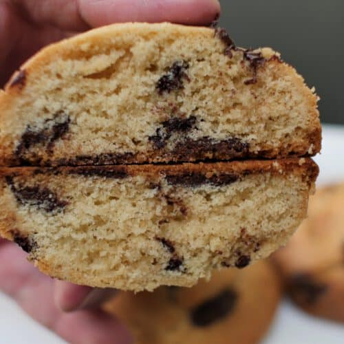 large chocolate chip cookies